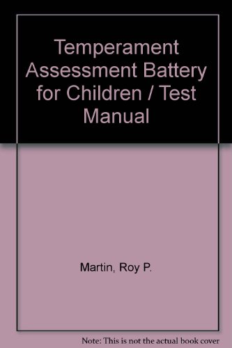 9780884221012: Temperament Assessment Battery for Children / Test Manual