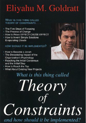 9780884270850: Theory of Constraints