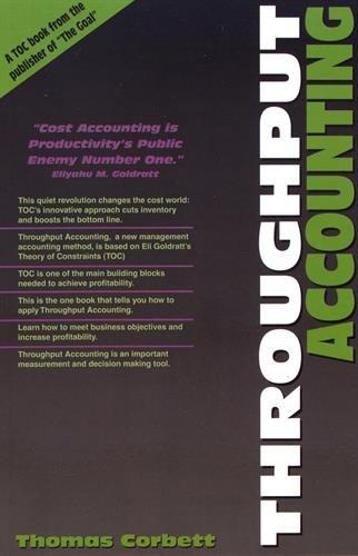 9780884271581: Throughput Accounting