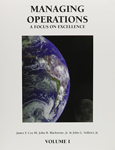 9780884271727: Managing Operations: A Focus on Excellence