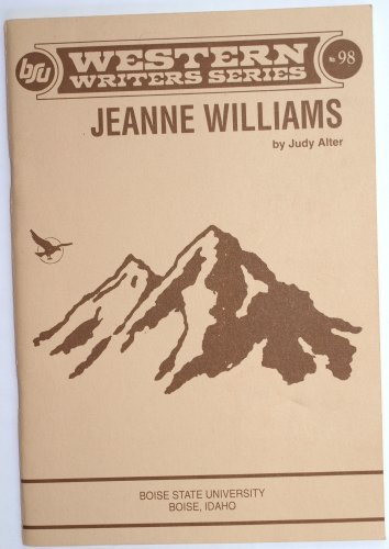 Jeanne Williams / Western Writers Series: Alter, Judy