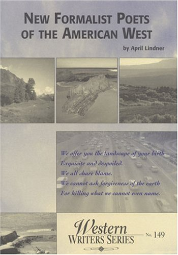 9780884301486: New Formalist Poets of the American West (Boise State University Western Writers Series)