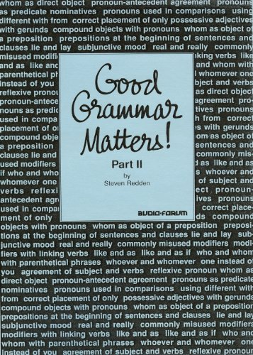 9780884325284: Good Grammar Matters