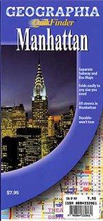 9780884332862: Geographia QuikFinder Manhattan New York Map