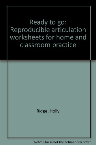 9780884502333: Ready to go: Reproducible articulation worksheets for home and classroom practice