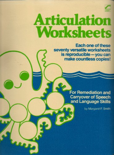 9780884507376: Articulation worksheets: For remediation and carryover of speech and language skills