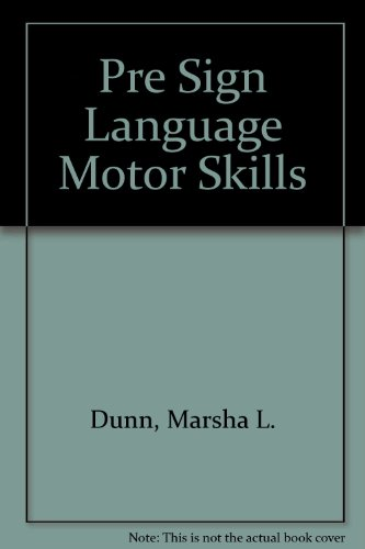 9780884508212: Pre Sign Language Motor Skills