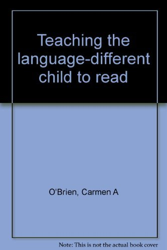 9780884508731: Teaching the language-different child to read