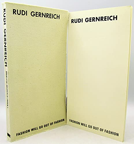 9780884541004: Rudi Gernreich: Fashion will go out of fashion, September 15 - November 11, 2001