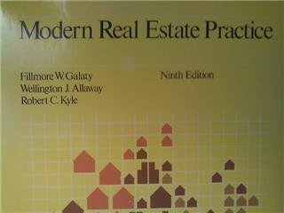 Modern Real Estate Practices: Galaty, Allaway & Kyle