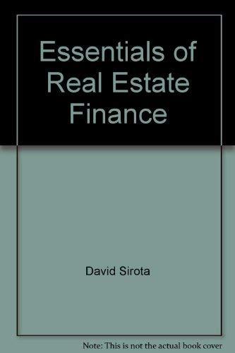 9780884623663: Essentials of real estate finance
