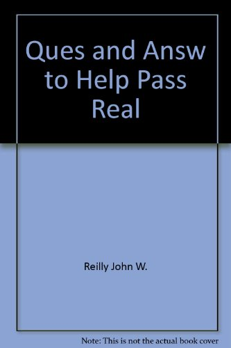 9780884623953: Questions & answers to help you pass the real estate exam