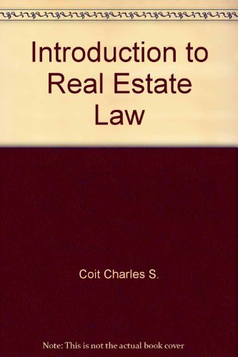 9780884625087: Introduction to real estate law