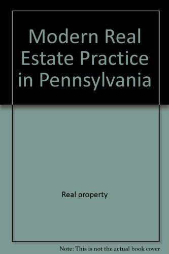 9780884625414: Modern real estate practice in Pennsylvania (Real Estate Education Company series)