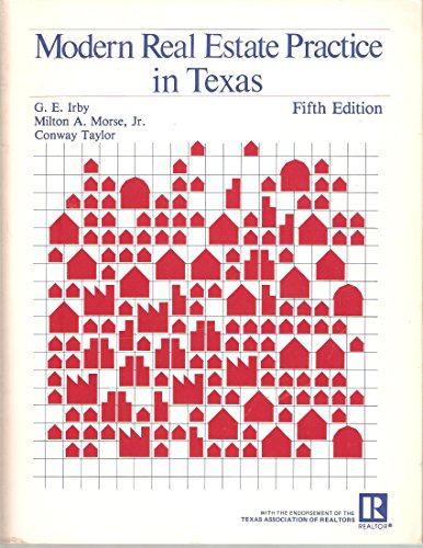 9780884625704: Modern real estate practice in Texas (Real Estate Education Company series)