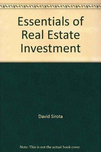 9780884626671: Essentials of real estate investment