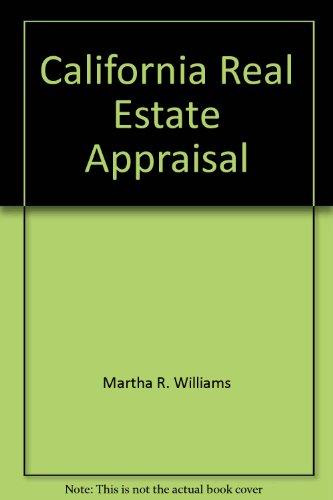 9780884627609: California real estate appraisal