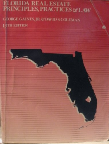9780884629160: Florida Real Estate Principles, Practices and Law (Florida Real Estate Principles, Practices & Law)