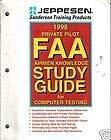 Private Pilot FAA Airmen Knowledge Study Guide: Jeppesen Sanderson Training