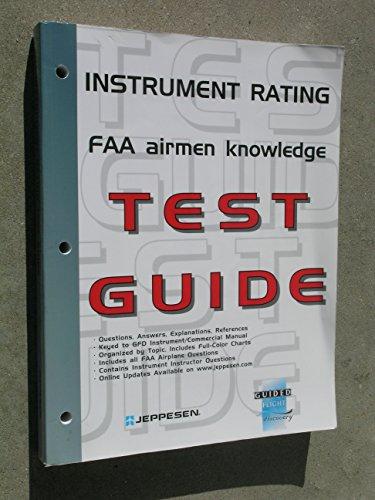 Instrument Rating Airmen Knowledge Test Guide: Jeppesen Sanderson, Inc.