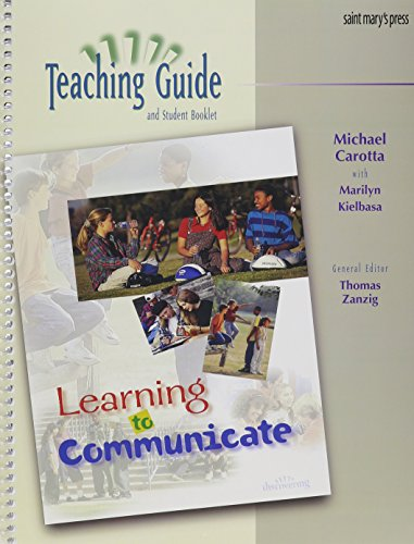 9780884894728: Learning to Communicate: (Teaching Guide)