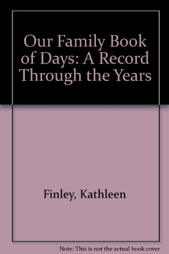 9780884896463: Our Family Book of Days: A Record Through the Years