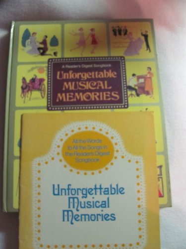 9780885771783: Unforgettable Musical Memories (Reader's Digest Songbook)