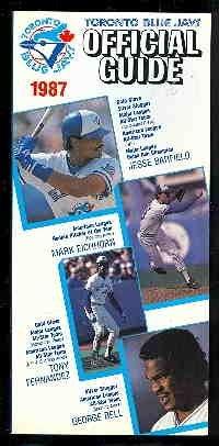 Toronto Blue Jays Official Guide 1987: Blue Jays