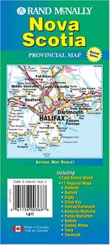 9780886403683: Rand McNally Nova Scotia: Provincial Map