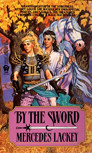 By the Sword 9780886774639 Granddaughter of the sorceress Kethry, daughter of a noble house, Kerowyn had been forced to run the family keep since her mother's untimely death. Yet now at last her brother was preparing to wed, and when his bride became the lady of the keep, Kerowyn could return to her true enjoyments - training horses and hunting. But all Kerowyn's hopes and plans were shattered when her anscestral home was attacked, her father slain, her brother wounded, and his fiancee kidnapped. Drive by desperation and the knowledge that a scorcerer had led the journey which would prove but he first step on the road to the fulfillment of her destiny.