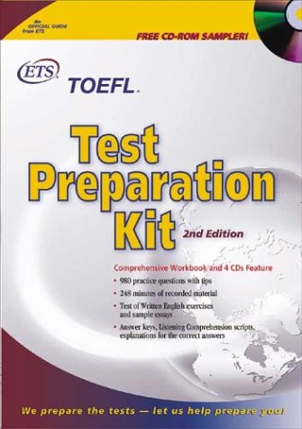 9780886852030: TOEFL Test Preparation Kit with CDROM and Cassette(s) and Other