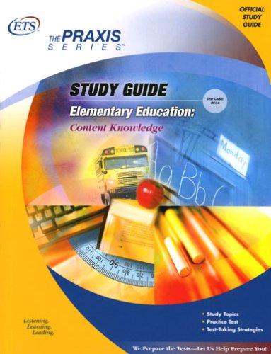 9780886852412: Elementary Education: Content Knowledge Study Guide (The Praxis Series)