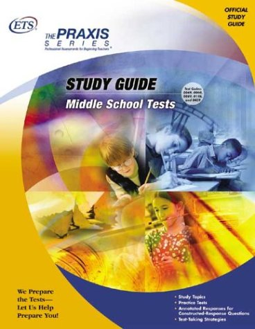 9780886852795: Study Guide for the Middle School Tests (Praxis Series)