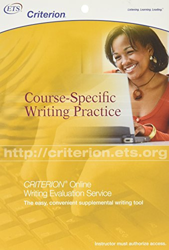 9780886853822: Criterion: Course-Specific Writing Practice