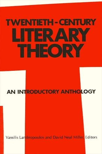 9780887062650: Twentieth-Century Literary Theory: An Introductory Anthology (Suny Series in Intersection. Philosophy and Literary Theory)