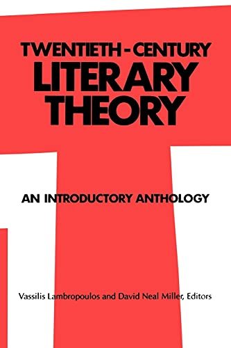9780887062667: Twentieth-Century Literary Theory: An Introductory Anthology (SUNY series, Intersections: Philosophy and Critical Theory)