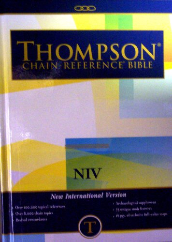 9780887070099: Thompson Chain Reference Bible (Style 823 index) - Regular Size NIV - Hardcover