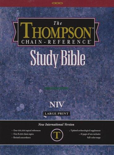 9780887070518: Large Print Thompson Chain Reference Study Bible-NIV -Burgundy