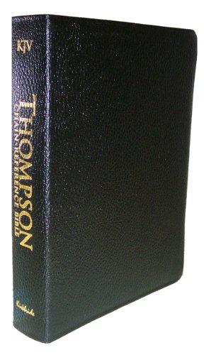 9780887071096: Thompson Chain Reference Bible (Style 510black index) - Regular Size KJV- Genuine Leather