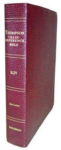 9780887071119: Thompson Chain Reference Bible (Style 510burgundy index) - Regular Size KJV - Genuine Leather