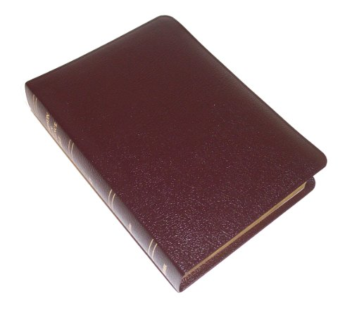 9780887071409: KJV - Burgundy Bonded Leather - Handy Size - Thompson Chain Reference Bible (015390)
