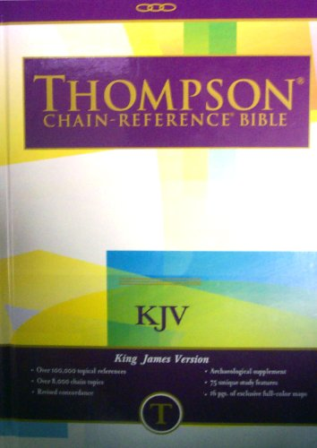 9780887071492: Thompson Chain Reference Bible (Style 515 index) - Large Print KJV - Hardcover