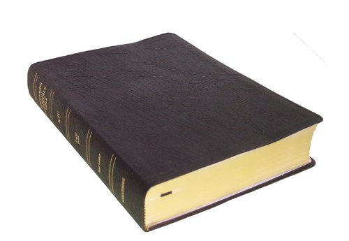9780887071553: KJV - Black Genuine Leather - Large Print - Indexed - Thompson Chain Reference Bible (025140)