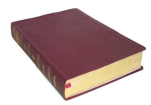 9780887071577: KJV - Burgundy Genuine Leather - Large Print - Indexed - Thompson Chain Reference Bible (025143)