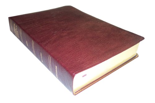 9780887071690: Thompson Chain Reference Bible (Style 806burgundy index) - Regular Size NIV - Genuine Leather