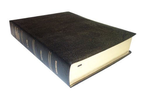 9780887072185: NASB - Black Genuine Leather - Regular Size - Thompson Chain Reference Bible (016060)