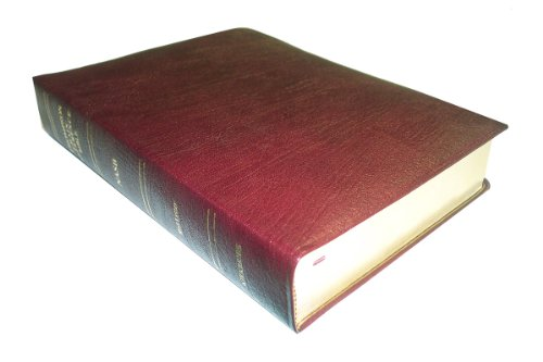 9780887072208: NASB - Burgundy Genuine Leather - Regular Size - Thompson Chain Reference Bible (016063)