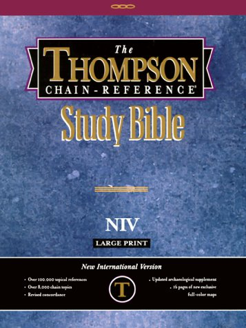 9780887073472: Large Print Thompson Chain Reference Bible-NIV
