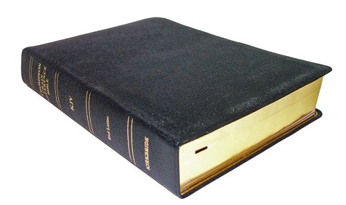 9780887074103: Thompson Chain Reference Bible - King James Version ( Regular Size, Black Genuine Leather with Morocco Grain, Smyth sewn pages, Gold gilding and stamping, Thumb Indexed )
