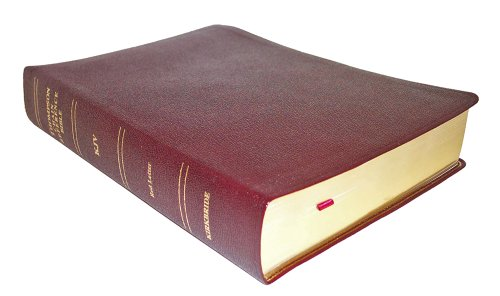 9780887074110: Thompson Chain Reference Bible - King James Version ( Regular Size, Burgundy Genuine Leather with Morocco Grain, Smyth sewn pages, Gold gilding and stamping )